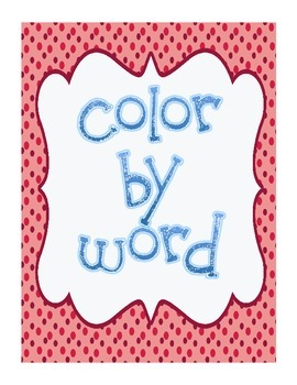 Color By Word