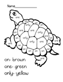 Color By Word Turtle