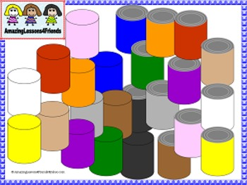 Color Cans Clipart