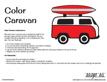 Color Caravan - Simple, effective color recognition activities w/ flashcards