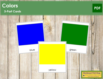 Color Cards: 3-Part Cards