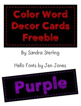Color Cards Decor