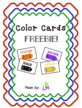 Color Cards - FREEBIE!