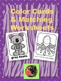 Color Cards & Matching Worksheets