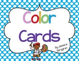 Color Cards--Polka Dot Backgrounds