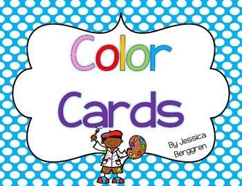 Color Cards--Polka Dot Backgrounds
