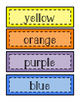 Color Cards - Wall and Word Wall Cards