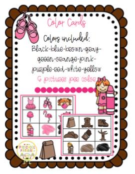 Color Cards for Pocket Chart