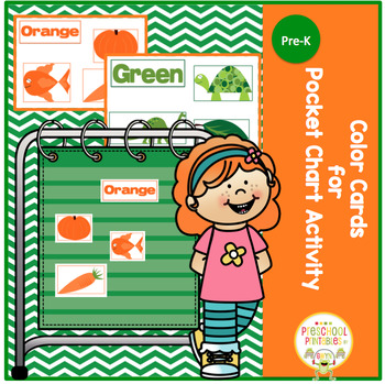 Color Cards for Pocket Chart Activity