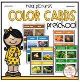 Color Cards for Sorting with Real Pictures