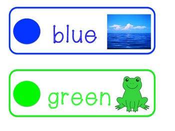 Color Cards for Word Wall