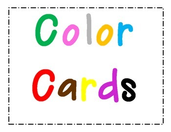 Color Cards with Pictures