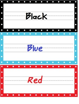 Color Cards and Shapes