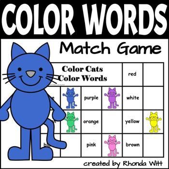 Color Cats Color Words Game