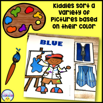 Color Centers: Color Puzzles, Color Sort, Flashcards & Wall Posters