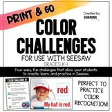 Color Challenges | For Use with Seesaw
