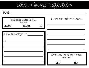 Color Change Reflection Sheet