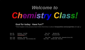 Color Chemistry Interactive Presentation: for visiting grade school audiences