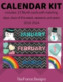 Color Chevron Calendar Kit