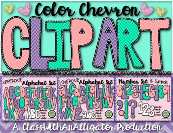 Color Chevron Clip Art Set