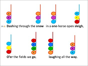 Color Chord-in-ated Holiday Songs for Bells - Easy, Fun, Instant Music Making