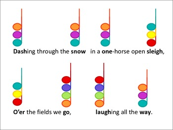 Color Chord-inated HOLIDAY SONGS for Boomwhackers or Bells
