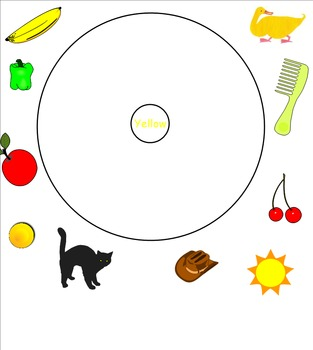 Color Circle Maps aligned with Brown Bear Brown Bear by Eric Carle