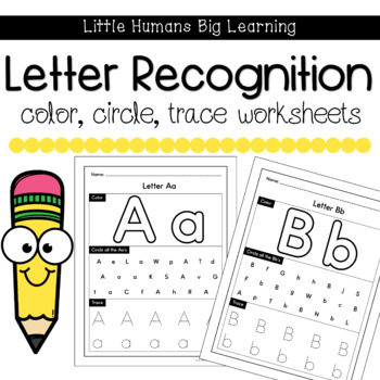 Color, Circle, Trace Letter Worksheets by Party in Preschool | TpT