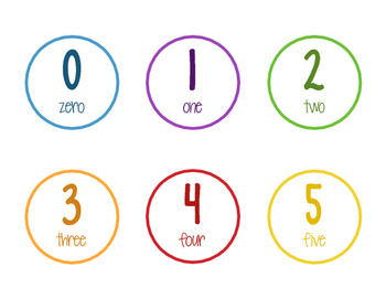 Color Classroom Numbers