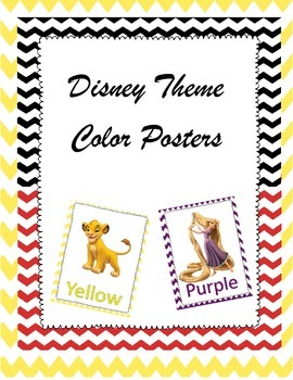 Color Classroom Posters {Disney Themed}