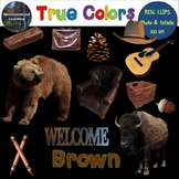 Color Clip Art Brown Photo & Artistic Digital Stickers