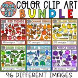 Color Objects Clip Art BUNDLE • 96 Different Images • Spea