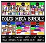Color Clip Art Mega Bundle {Educlips Clipart}
