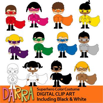 Color Clip Art - Superhero Color Costume Clipart