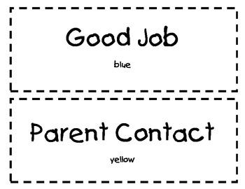 Color Clip Behavior Chart