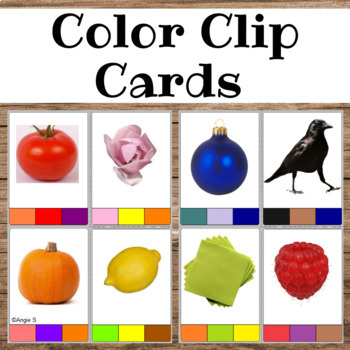 Color Clip Cards for Special Education