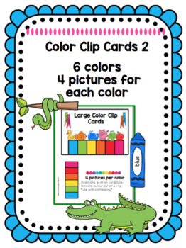 Color Clip Cards 2  *Dollar Deal*