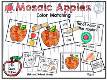 Color Clip Cards:  Apples