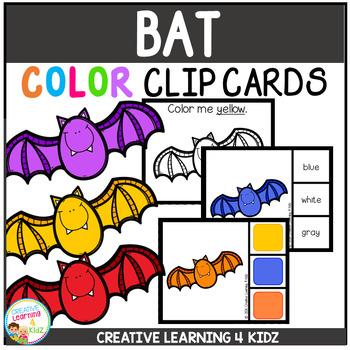Color Clip Cards: Bat