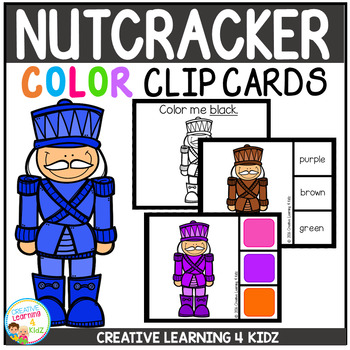 Color Clip Cards: Christmas Nutcracker