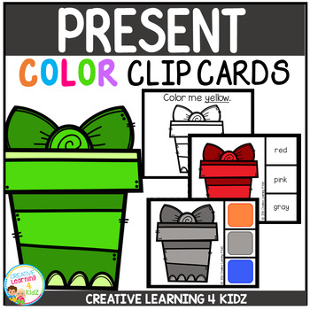 Color Clip Cards: Christmas Present