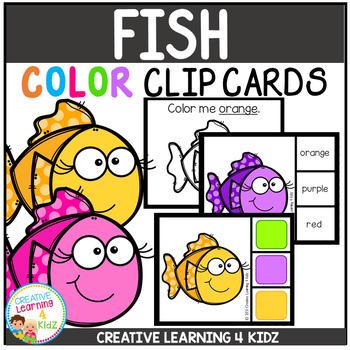 Color Clip Cards: Fish