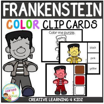 Color Clip Cards: Frankenstein