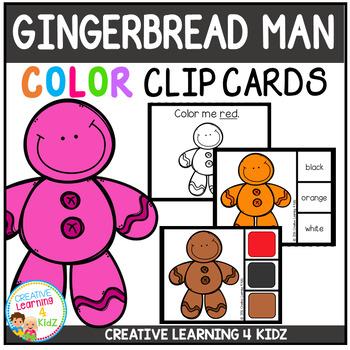 Color Clip Cards: Gingerbread Man