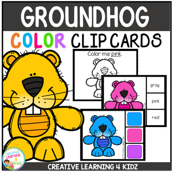 Color Clip Cards: Groundhog Day