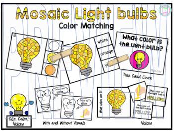 Color Clip Cards:  Light bulbs