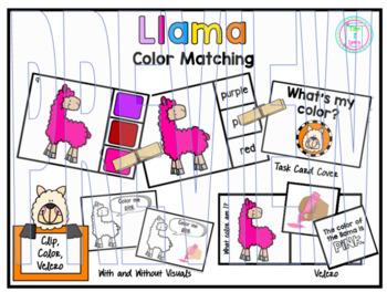Color Clip Cards: Llama