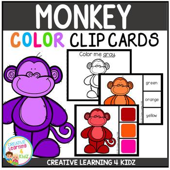 Color Clip Cards: Monkey