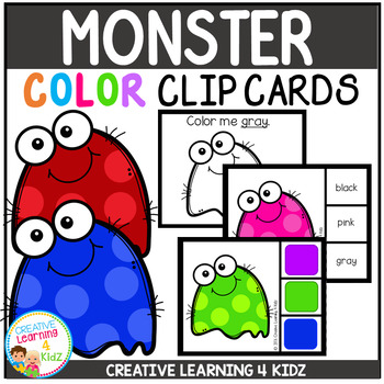 Color Clip Cards: Monster