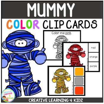 Color Clip Cards: Mummy